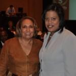 L-R: Cathy Hughes and Stephanie Rawlings-Blake (Mayor of Baltimore).