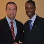 """L-R: Gov. Martin O'Malley & Ibrahim Dabo. Gov. O'Malley will received the """"Most Distinguished Leader of the Year for Minority Business Enterprise"""" Award"""
