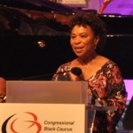 """Our vision is clear."" - Congresswoman Barbara Lee, chair of CBC. Photo Credit: Ibrahim Dabo."