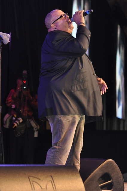 Fred Hammond rocked the stage with songs of inspiration. Photo Credit: Ibrahim Dabo.