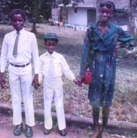 From left to right: Ishmael, Ibrahim and Miatta Dabo.