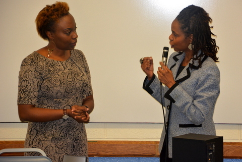 Mulowa K. Kajoba (L) and Nettie Millard (R)